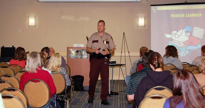 Sgt. Eric Barthel led a session on using games in training.